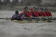 London. GREAT BRITAIN, 2007 Oxford University BC,  crew Hammer [surrey left] Bow, Paul KELLY,  2. Lucas DALGLISH, 3. Michal PIOTKOWIAK, 4. Magnus FLEMING, 5. Andrew WRIGHT, 6. Matthew BROWN, 7. Terence KOOKYER, Stroke, Adam KOSMICKI, Cox Nicholas BRODIE. ..crew Sickle. Bow, Matthew SUGGIT, 2. George HILTON, 3. Nicholas MARRIOT, 4. David KNEZEVIC,  5. Richard CHAMBERS,  6. William BUCKLAND, 7 Robin EJSMOND-FREY, Stroke Ante KUSURIN cox Philip CLAUSEN-THUE,competing in the 2007 Oxford University  Trial Eights, between Putney and Chiswick  07.12.2006. [Photo, Peter Spurrier/Intersport-images]. Varsity:Boat Race, Rowing Course: River Thames, Championship course, Putney to Mortlake 4.25 Miles