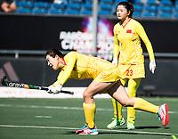 BREDA - Wenyu Xu (Chn)  met  tijdens Spanje-China bij de 4 Nations Trophy dames 2018 .  COPYRIGHT  KOEN SUYK