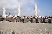 Cyprus, Paphos, Bay of Paphos the harbour. Alfresco dining