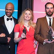 NLD/Amsterdam//20140331 - Uitreiking Edison Pop 2014, Mr. Probz, Sandra Nieuwland en Torre Florim