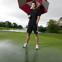St Johnstone Pre-Season Tour of Ireland....08.07.11<br /> Callum Davidson pictured on the flooded golf course at the City West Hotel on the outskirts of Dublin where saints are staying during their pre-season tour of Ireland. Callum was hoping to get the chance to play a round of golf but the heavy rain caused the course to be closed.<br /> see story by Gordon Bannerman Tel: 07729 865788<br /> Picture by Graeme Hart.<br /> Copyright Perthshire Picture Agency<br /> Tel: 01738 623350  Mobile: 07990 594431