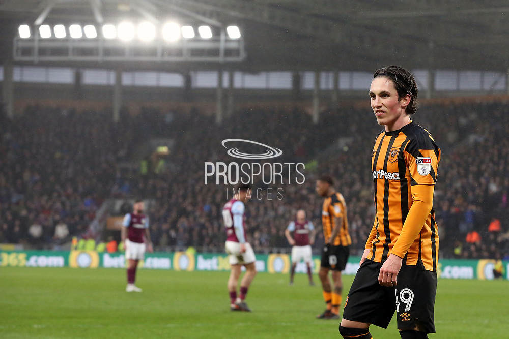 Hull City midfielder Harry Wilson (49) during the EFL Sky Bet Championship match between Hull City and Aston Villa at the KCOM Stadium, Kingston upon Hull, England on 31 March 2018. Picture by Mick Atkins.