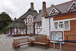 Somerleyton primary school with thatched roof, Suffolk UK