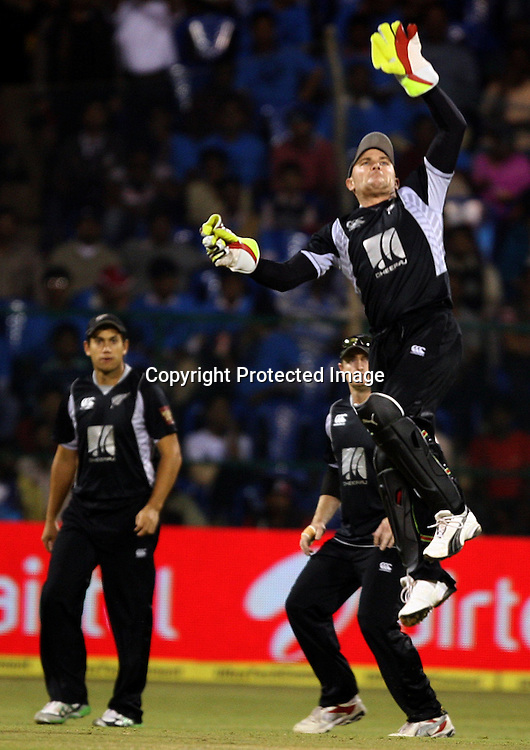 New Zealand player Brendon McCullum during the 4th ODI match India vs New Zealand Played at M Chinnaswamy Stadium, Bangalore, 7 December 2010 - day/night (50-over match)