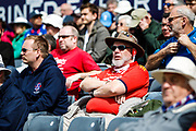 A spectator during the One Day International match between England and Ireland at the Brightside County Ground, Bristol, United Kingdom on 5 May 2017. Photo by Andrew Lewis.