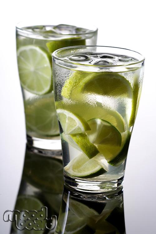 Studio shot of mojito drink