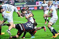 Morne STEYN / Yannick NYANGA / Schalk FERREIRA - 24.04.2015 - Stade Francais / Stade Toulousain - 23eme journee de Top 14<br />Photo : Dave Winter / Icon Sport