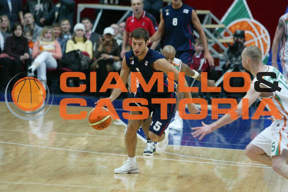 DESCRIZIONE : Kazan Uleb Cup 2005-06 Unics Kazan Lottomatica Virtus Roma <br /> GIOCATORE : Giachetti <br /> SQUADRA : Unics Kazan <br /> EVENTO : Uleb Cup 2005-2006 <br /> GARA : Unics Kazan Lottomatica Virtus Roma <br /> DATA : 07/02/2006 <br /> CATEGORIA : Contropiede <br /> SPORT : Pallacanestro <br /> AUTORE : Agenzia Ciamillo-Castoria/G.Ciamillo