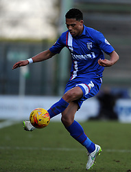 Gillingham's Bradley Garmston  - Photo mandatory by-line: Harry Trump/JMP - Mobile: 07966 386802 - 21/02/15 - SPORT - Football - Sky Bet League One - Yeovil Town v Gillingham - Huish Park, Yeovil, England.
