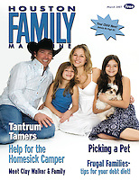 Houston Family March 2007 Cover Clay Walker Family