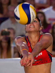 Simona Fabjan during women final match of Slovenian National Championship in beach volleyball Kranj 2012, on June 30, 2012 in Kranj, Slovenia. (Photo by Vid Ponikvar / Sportida.com)