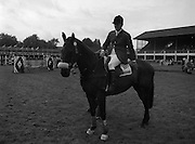 "07/08/1980<br /> 08/07/1980<br /> 07 August 1980<br /> R.D.S. Horse Show: John Player Top Score Competition, Ballsbridge, Dublin. Harvey Smith (Great Britain) winner, on ""Sanyo Music Centre""."