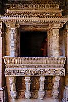 Inde, Etat de Gujarat, Ahmedabad, classé Patrimoine Mondial de l'UNESCO, Adalaj, puits Buda, puits monumental à degrés // India, Gujarat, Ahmedabad, Unesco World Heritage city, Adalaj Stepwell