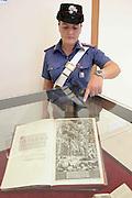 Foto di Donato Fasano Photoagency, nella foto : I Carabinieri del Nucleo Tutela Patrimonio Culturale di Bari e del Reparto Operativo T.P.C. di Roma, in collaborazione con il Federal Bureau of Investigation (F.B.I.) hanno rimpatriato da Chicago (U.S.A.) oltre 1500 beni d'arte costituiti da pergamene, manoscritti, libri antichi asportati in data imprecisata -compresa tra i primi anni '70 e gli '80- dalle Biblioteche e dagli Archivi diocesani, statali, comunali ubicati per la quasi totalità in Puglia (in particolare a Bari, provincia di Bari e BAT) nonché 409 reperti archeologici scavati clandestinamente in aree vincolate apule.