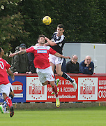 Paul McGinn out jumps Dene Shields - Brechin City v Dundee, pre-season friendly at Starks Park<br /> <br />  - &copy; David Young - www.davidyoungphoto.co.uk - email: davidyoungphoto@gmail.com