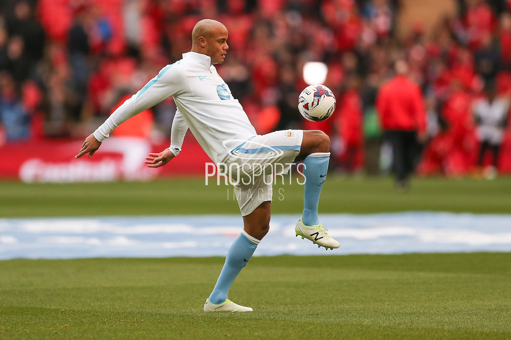 Manchester City defender Vincent Kompany (4)  during the Capital One Cup match between Liverpool and Manchester City at Anfield, Liverpool, England on 28 February 2016. Photo by Simon Davies.