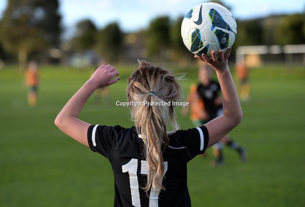 Laura Merrin. Junior Football Ferns v Young Matildas. Kristin School, Albany. Thursday 25 July 2013. Photo: Andrew Cornaga/Photosport.co.nz