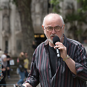 Speaker Peter Egan MP rally to STOP Live Transport 2018 unnecessary suffering in Parliament Square June 14 2018, London, UK.