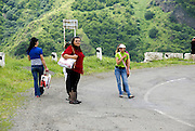 Armenia, Debed Valley, Local people on the roadside