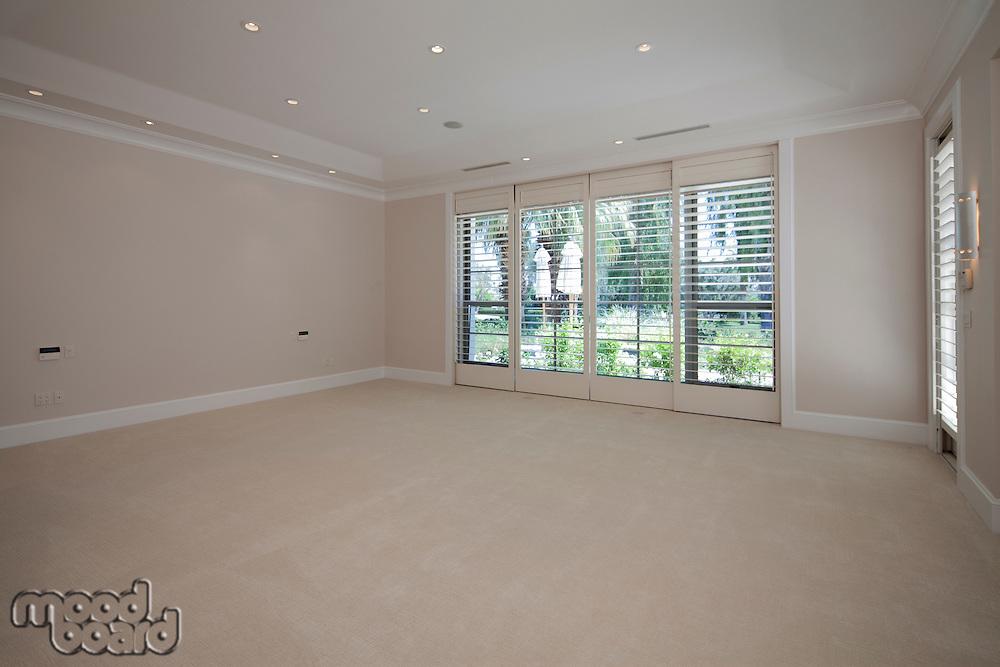 Empty room of luxury villa
