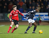 24th November 2017, Dens Park, Dundee, Scotland; Scottish Premier League football, Dundee versus Rangers; Dundee's Glen Kamara and Rangers' Josh Windass