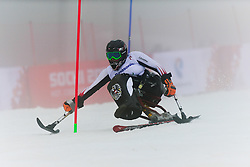 FORSTER Anna-Lena competing in the Alpine Skiing Super Combined Slalom at the 2014 Sochi Winter Paralympic Games, Russia