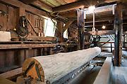 Historische Neumannmühle innen, Kirnitzschtal, Sächsische Schweiz, Sachsen, Deutschland   historic Mill Neumannmuehle, Kirnitzsch valley, Saxon Switzerland, Saxony, Germany