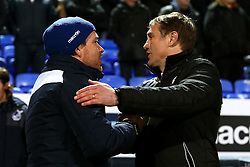 Bristol Rovers manager Darrell Clarke shakes hands with Bolton Wanderers manager Phil Parkinson - Mandatory by-line: Matt McNulty/JMP - 28/02/2017 - FOOTBALL - Macron Stadium - Bolton, England - Bolton Wanderers v Bristol Rovers - Sky Bet League One