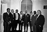 22/07/1967<br /> 07/22/1967<br /> 22 July 1967<br /> Reception at the Indian Embassy for Cricket team. The Indian team was on a tour of the British Isles and had played and beaten the Irish team the day before.