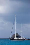 Amneris at anchor