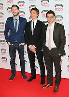Blake Harrison; Joe Thomas; Simon Bird, Jameson Empire Film Awards, Grosvenor House Hotel, London UK, 30 March 2014, Photo by Richard Goldschmidt