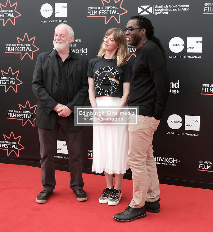 Edinburgh International Film Festival, Thursday 22nd June 2017<br /> <br /> Juror's photocall<br /> <br /> Bernard Hill, Shauna Macdonald and James Faust<br /> <br /> (c) Alex Todd   Edinburgh Elite media