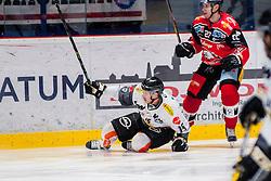 22.10.2016, Ice Rink, Znojmo, CZE, EBEL, HC Orli Znojmo vs Dornbirner Eishockey Club, 13. Runde, im Bild v.l. Christopher Dalvise (Dornbirner) Dalibor Reznicek (HC Orli Znojmo) // during the Erste Bank Icehockey League 13th round match between HC Orli Znojmo and Dornbirner Eishockey Club at the Ice Rink in Znojmo, Czech Republic on 2016/10/22. EXPA Pictures © 2016, PhotoCredit: EXPA/ Rostislav Pfeffer