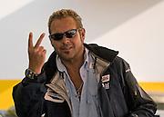 Image of Chad McQueen, son of Steve McQueen, at the Rennsport Reunion III at Daytona International Speedway, Daytona, Florida, American Southeast