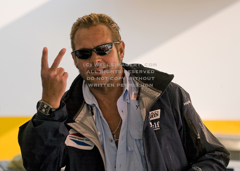 Image of Chad McQueen, son of Steve McQueen, at the Rennsport Reunion III at Daytona International Speedway, Daytona, Florida, American Southeast