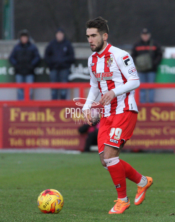 Charlie Adams during the Sky Bet League 2 match between Stevenage and Exeter City at the Lamex Stadium, Stevenage, England on 20 December 2014. Photo by Kieran Clarke.