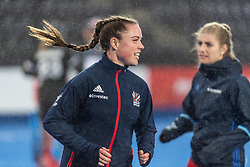 Grace Balsdon of Great Britain Women warms up before the 2019 Women's FIH Pro League match at Lee Valley Hockey Centre, Stratford<br /> Picture by Simon Parker/Focus Images Ltd <br /> 03/05/2019