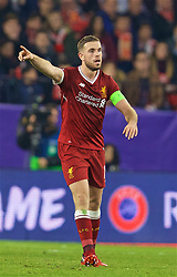 SEVILLE, SPAIN - Tuesday, November 21, 2017: Liverpool's captain Jordan Henderson during the UEFA Champions League Group E match between Sevilla FC and Liverpool FC at the Estadio Ramón Sánchez Pizjuán. (Pic by David Rawcliffe/Propaganda)
