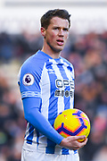 Eric Durm of Huddersfield Town (37) in action during the Premier League match between Huddersfield Town and Arsenal at the John Smiths Stadium, Huddersfield, England on 9 February 2019.