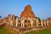 Thailande, province de Phra Nakhon Si Ayutthaya, Ayutthaya, Parc Historique, Wat Chaimongkhon // Thailand, Ayutthaya, Ayutthaya Historical Park, Wat Chaimongkhon