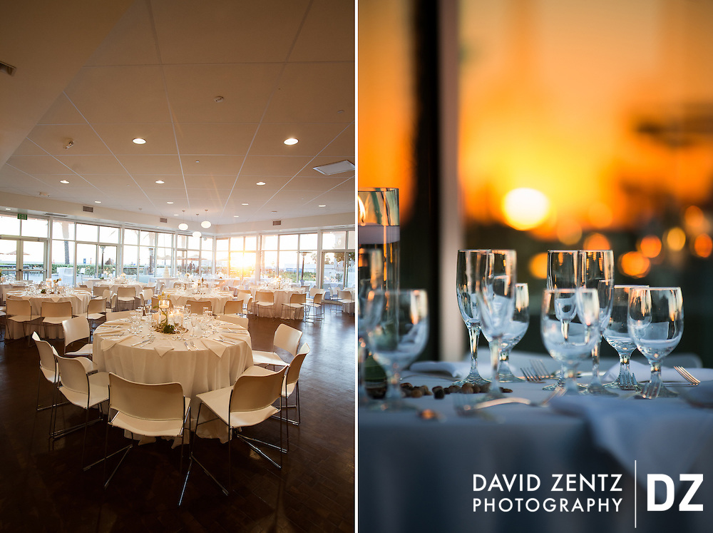Details from events at the Annenberg Beach House in Santa Monica.
