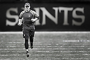 NEW ORLEANS, LA - NOVEMBER 13:  Drew Brees #9 of the New Orleans Saints warming up before a game against the Denver Broncos at Mercedes-Benz Superdome on November 13, 2016 in New Orleans, Louisiana.  The Broncos defeated the Saints 25-23.  (Photo by Wesley Hitt/Getty Images) *** Local Caption *** Drew Brees