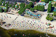 Nederland, Noord-Brabant, Hilvarenbeek, 23-08-2016; Speelland Beekse Bergen, attractiepark en speeltuin.<br /> Playland Beekse Bergen, amusement park and playground.<br /> aerial photo (additional fee required); <br /> luchtfoto (toeslag op standard tarieven);<br /> copyright foto/photo Siebe Swart