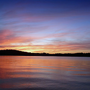 Sunset on Lake Sidney Lanier, Georgia, United States.