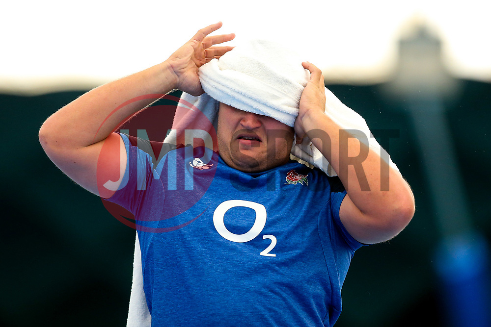 Jamie George of England trains in the gym at Clifton College - Mandatory by-line: Robbie Stephenson/JMP - 15/07/2019 - RUGBY - England - England training session ahead of Rugby World Cup