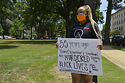 """Today at the Mississippi State Capitol. Truth spoken to power by demonstrators in support of Black Lives Matter and the murder of George Floyd and police brutality and systematic racism. In the past 6 days protests and riots have broken out across America in response to the brutal killing of an unarmed African American man by the knee and hands of Minnesota Police <br /> Officers. Photo copyright © @suzialtman #Suzi Altman #protest#peace #blacklivesmatter #georgefloyd #policebrutality #racism #america #mississippi #peacefulprotest #teachlovenothate<br /> Today at the Mississippi State Capitol 29 yr old history teacher from Cardozo Middle School ,Dhahran Hall, spoke truth to power and lead  demonstrators in support of Black Lives Matter and the murder of George Floyd and police brutality and systematic racism. Protestors gathered at the State Capitol and marched around downtown Jackson returning to the Capitol they chanted """" Say There Names"""", """" I can't Breathe"""", """" No Justice No Peace"""" """" Justice for George Floyd"""" it was a very peaceful protest and march.  In the past 6 days protests and riots have broken out across America in response to the brutal killing of an unarmed African American man by the knee and hands of Minnesota Police<br /> Officers. Photo copyright © @suzialtman #Suzi Altman #protest#peace #blacklivesmatter #georgefloyd #policebrutality #racism #america #mississippi #peacefulprotest #teachlovenothate, white supremacy, cover-19, corona virus, pandemic"""
