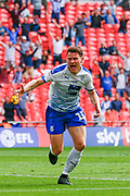 GOAL 1-0 Tranmere Rovers forward Connor Jennings (11) scores and celebrates during the EFL Sky Bet League 2 Play Off Final match between Newport County and Tranmere Rovers at Wembley Stadium, London, England on 25 May 2019.