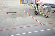 gate and tarmac at Narita International airport Tokyo Japan