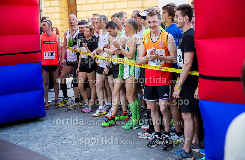 Runners during running race Tek trojk et event Pot ob zici, on May 10, 2014, at Kongresni trg in Ljubljana, Slovenia. Photo by Vid Ponikvar / Sportida