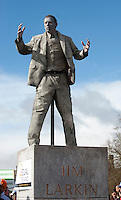17/03/2013 Seamus Hughes aka Jim Larkin in the Galway St Patrick's Day Parade which was refused entry to the Dublin Parade .Picture:Andrew Downes.